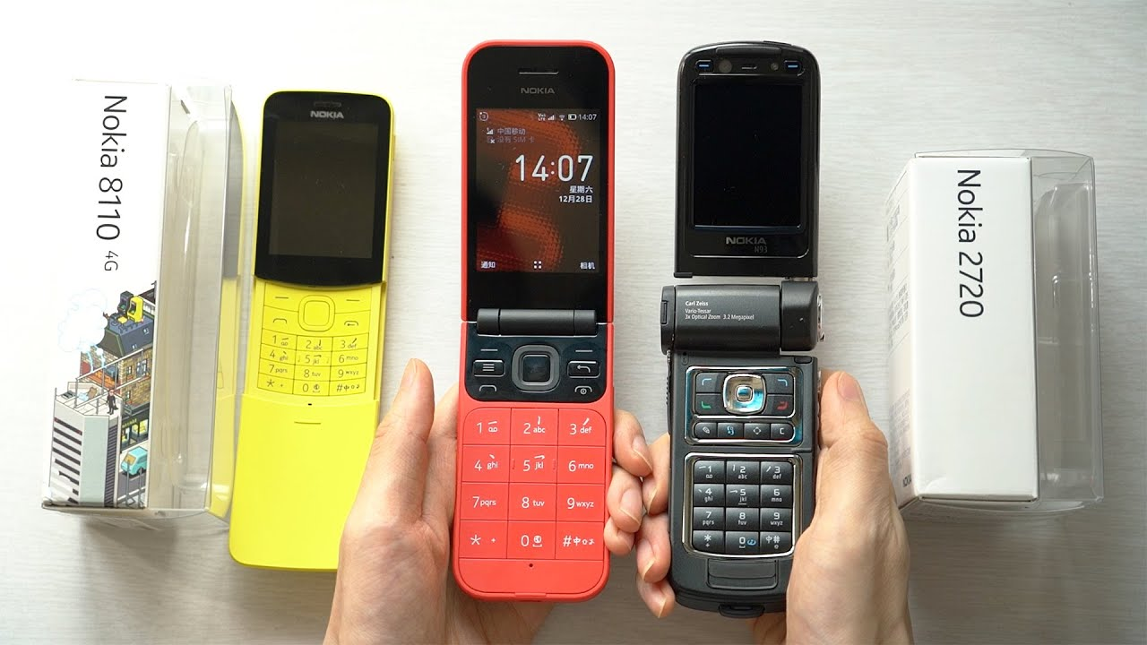 Unboxing and Hands-on the New Bright Red Nokia 2720 Flip Smart Feature  Phone - YouTube