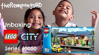Mainan LEGO City Train Station - #60050 Unboxing!!! - Time Lapse Build - English Subtitled
