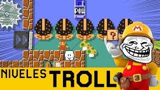 ¿Qué Puede Salir Mal?...TODO!! - NIVELES TROLL | Super Mario Maker - ZetaSSJ