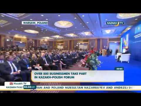 President Nazarbayev meets with Prime Minister of Poland - Kazakh TV