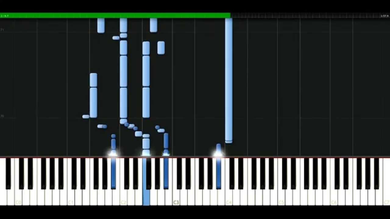 Bush Glycerine Piano Tutorial Synthesia Passkeypiano Youtube
