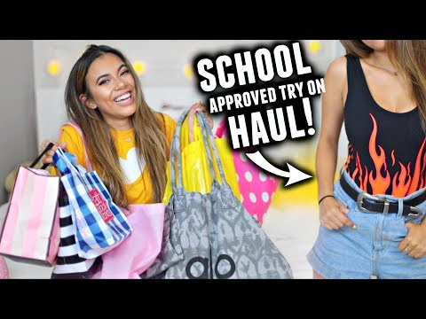 BACK TO SCHOOL APPROVED CLOTHING HAUL 2017! Try On📝🛍️