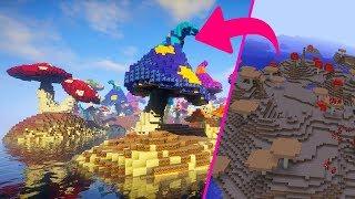 Amazing Mushroom Island Transformation! Minecraft Build Timelapse [Download] YouTube