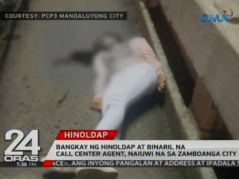 Bangkay ng hinoldap at binaril na call center agent, naiuwi na sa Zamboanga City