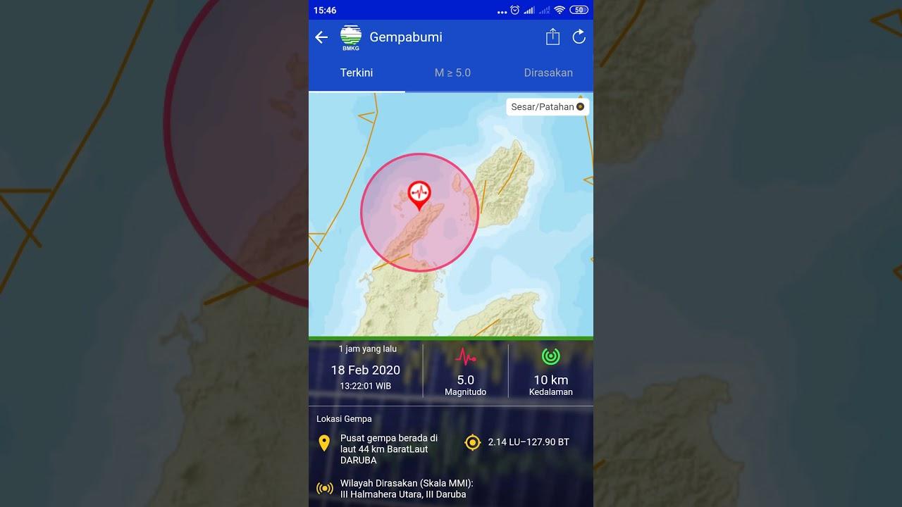 Gempa bumi maluku hari ini tgl 18 februari tahun 2020 ...