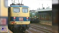 Hauptbahnhof Hamm DB Tag der Schätze im Eisenbahnalltag Mai 1996 mit VT 18.16.07/.10, 141 248 ua.