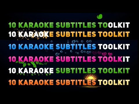 Karaoke Titles Toolkit - After Effects Template