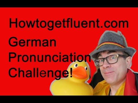 German pronunciation challenge
