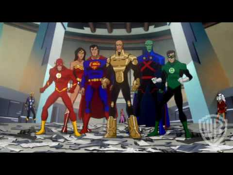 "Justice League vs. Crime Syndicate from ""Justice League: Crisis on Two Earths"""
