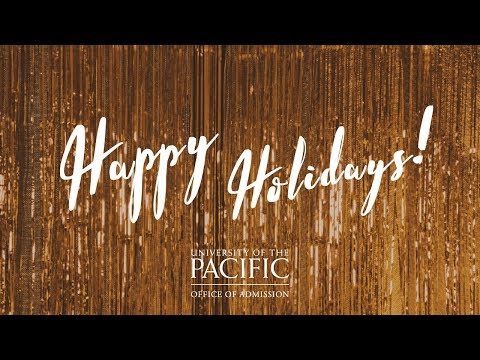UOP Office of Admission Holiday Video 2017