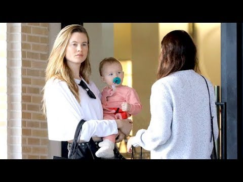 Behati Prinsloo Displays Sheer Perfection At Barney's With Adorable Daughter Dusty Rose