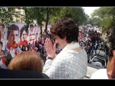 Priyanka Gandhi Vadra receives grand welcome by party workers during her first visit to Lucknow