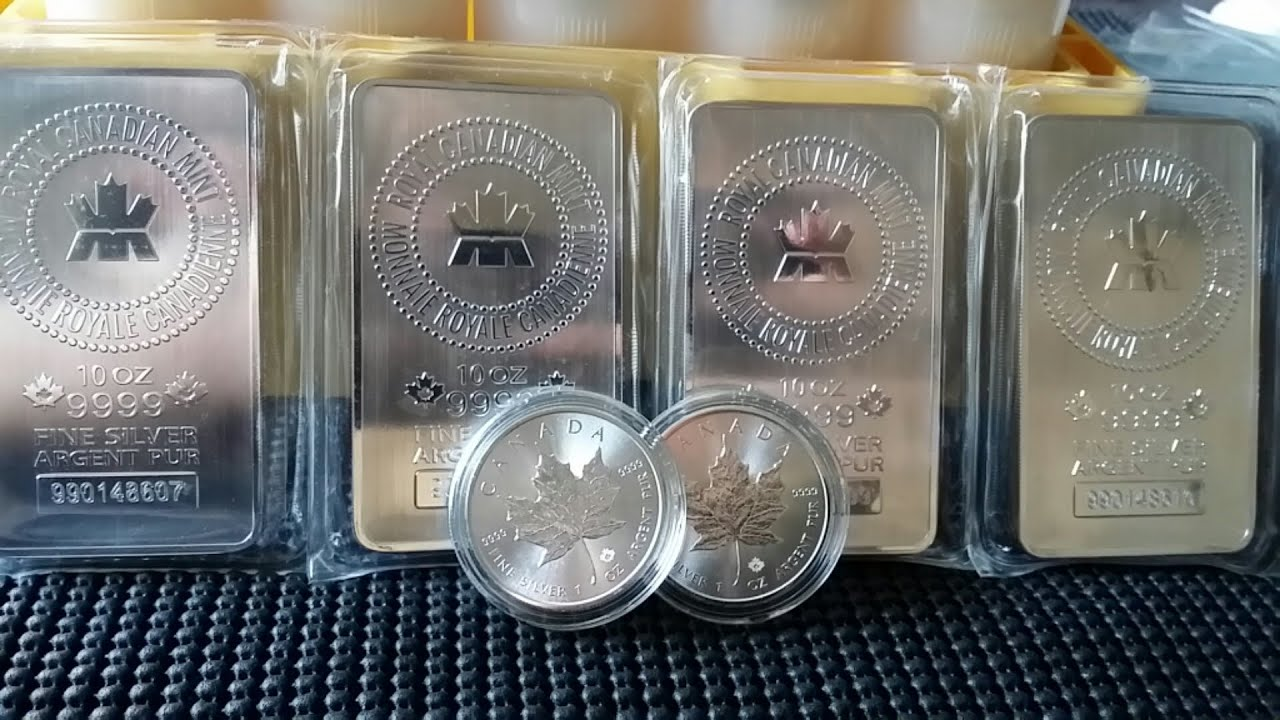 4 silver gold bull unboxing 114oz 39 s of silver bullion coins bars youtube. Black Bedroom Furniture Sets. Home Design Ideas