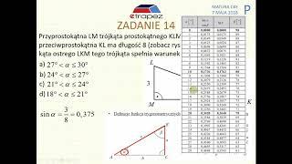 [Zadanie 14] Matura z matematyki poziom podstawowy. Maj 2018.