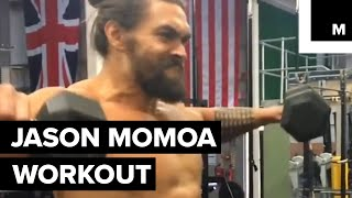 Jason Momoa is getting in shape for Justice League