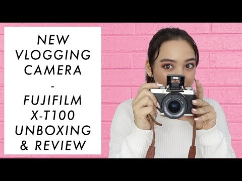 NEW VLOGGING CAMERA! - Fujifilm X-T100 Unboxing/Review | Aryanna Epperson