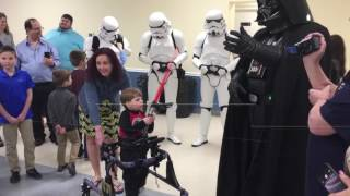 Darth Vader Visits Make-A-Wish Family