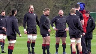 Wales Rugby Team Train Ahead Of Six Nations Game Against England