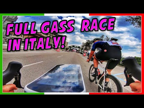 RACING a GRAN FONDO in ITALY - FULL GASSS! (sprint leadout by a pro cyclist!)