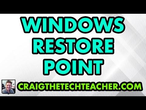 Create Windows XP Restore Point
