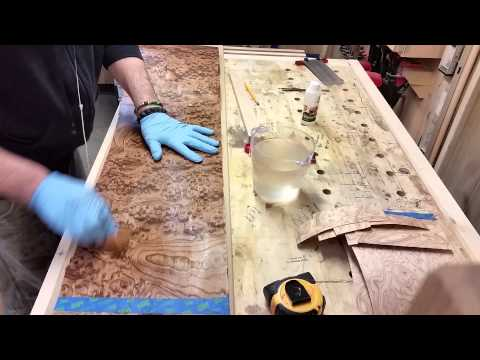 how to flatten veneer (without using a vac and bags)