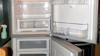 видео наледь на задней стенке холодильника