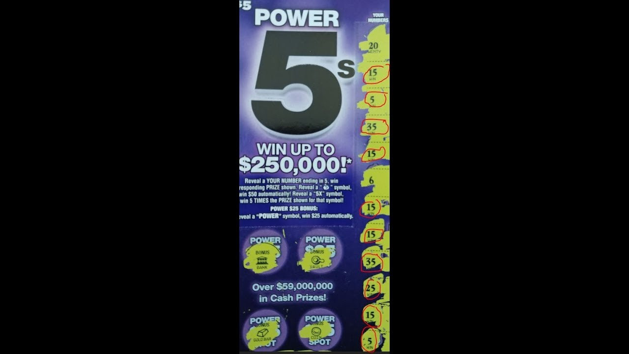 New Game We Have 10 Matches Florida Lottery S 5 Power 5 S Scratch