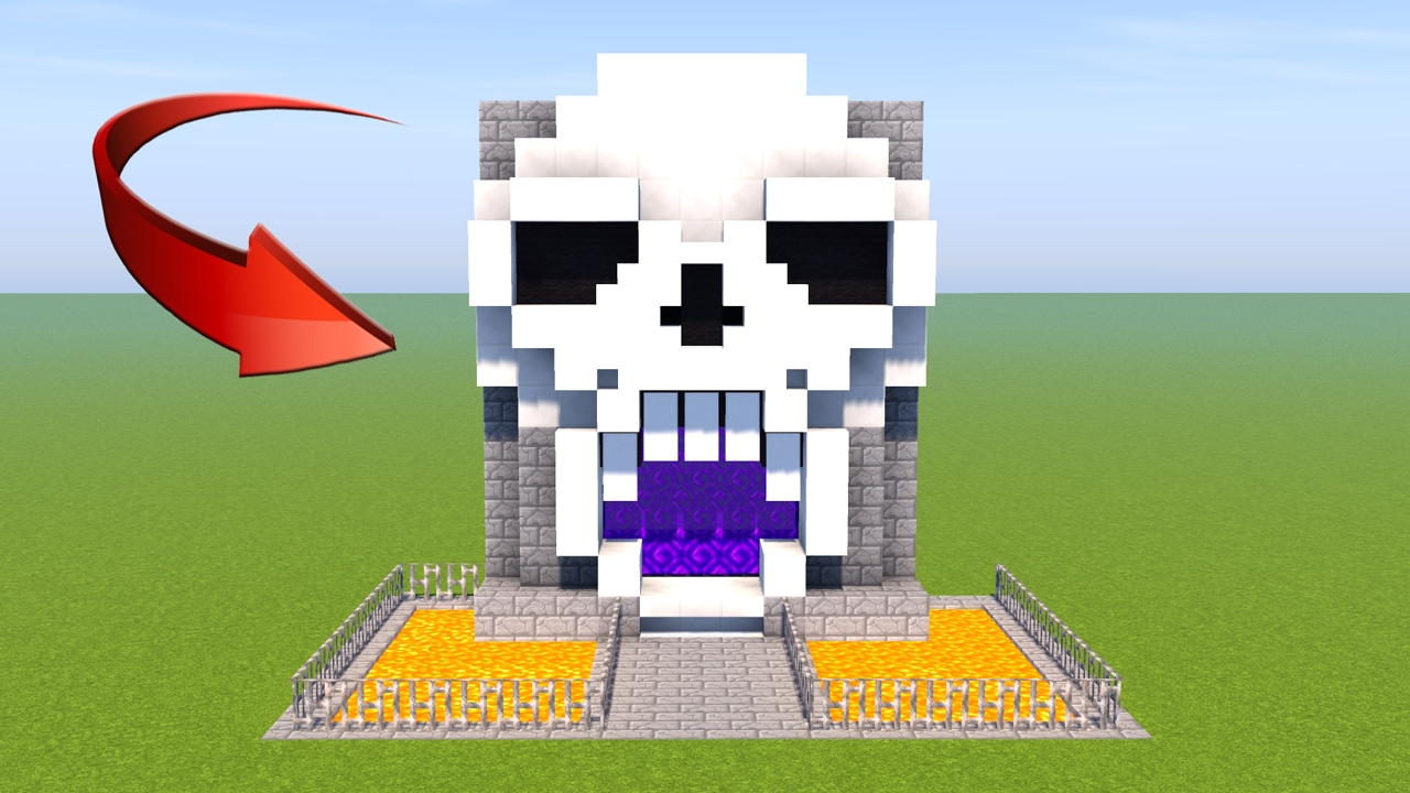 Custom Nether Portal Minecraft How To Make Skull Nether Portal Minecraft Skull Tutorial