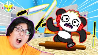 RYAN'S DADDY ESCAPES AMAZING KITCHEN OBBY! Roblox Let's Play with Combo Panda
