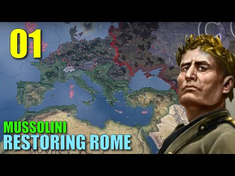 Mussolinis Roman Empire [Part 01] - WWII Hoi4 Timelapse  