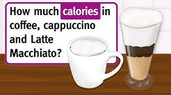 Coffee, cappuccino, latte macchiato -- we show you how much calories they have!