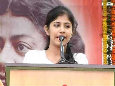Ms.Apoorva speaking on 11 January-National Youth Day celebrations 2012