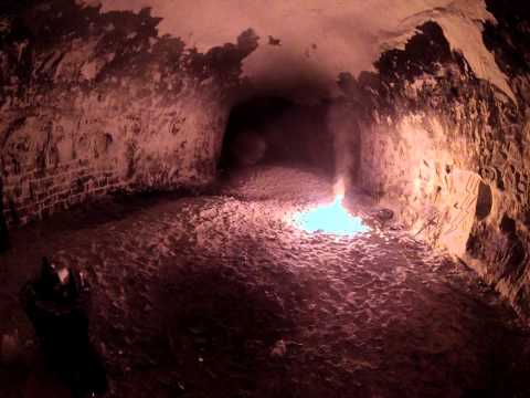 Lighting Up A Cave With A Road Flare
