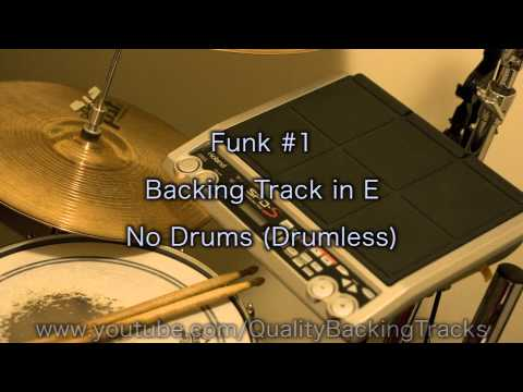 Funk #1 Backing Track in E (No Drums/Drumless)