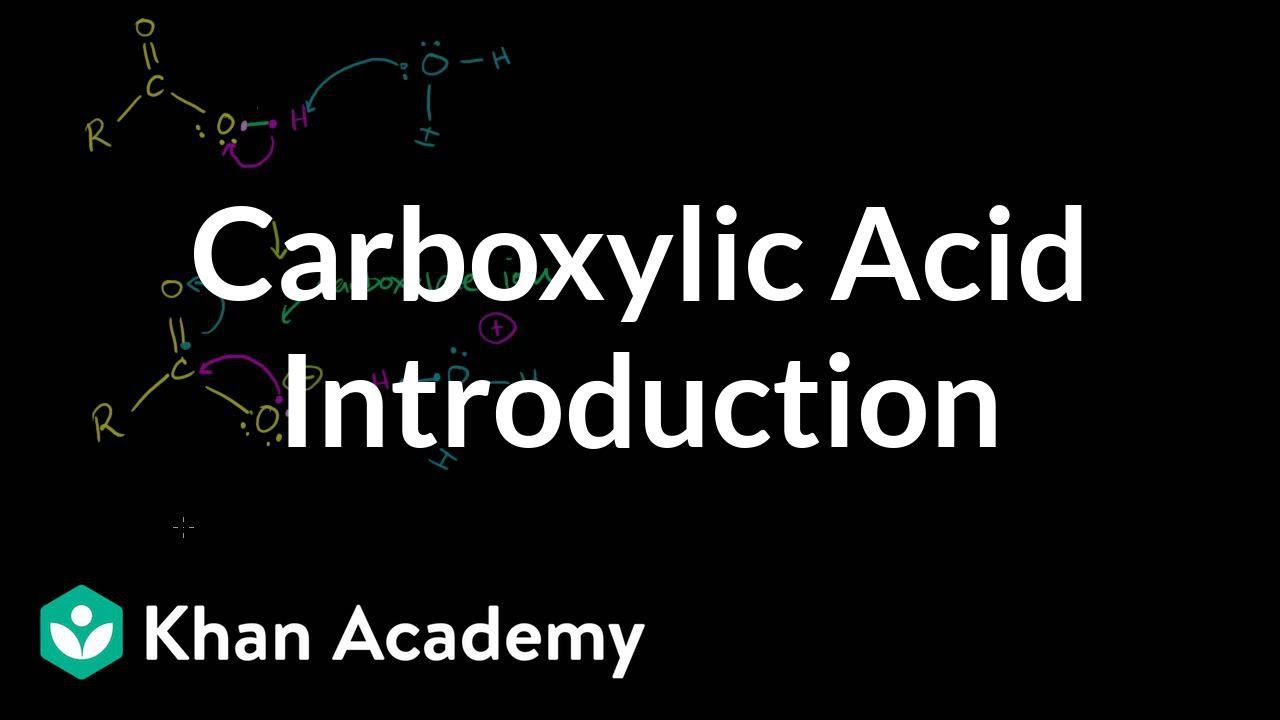 Carboxylic acid introduction (video) | Khan Academy