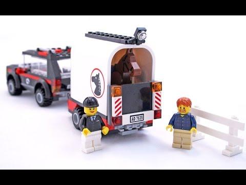 lego city 4x4 avec remorque pour chevaux jouets lego pour les enfants