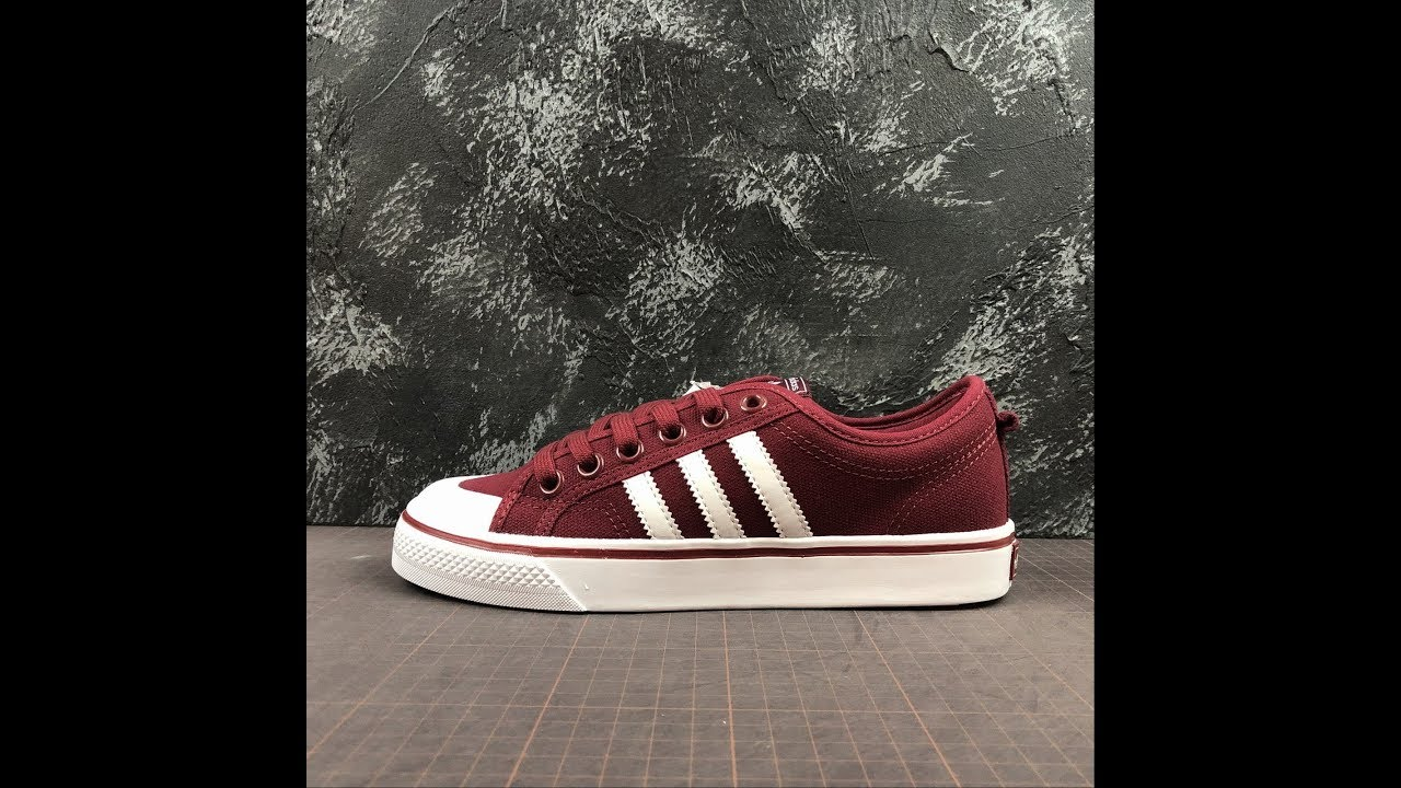 Monarca pantalones tolerancia  Robert Adidas Nizza Red Shoes B37857 Size 36 - 44 - YouTube