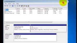 Create Partition Using Disk Management (Windows 7)