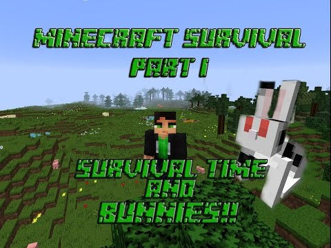 Survival Time with Bunnies! Minecraft Survival [Part 1]