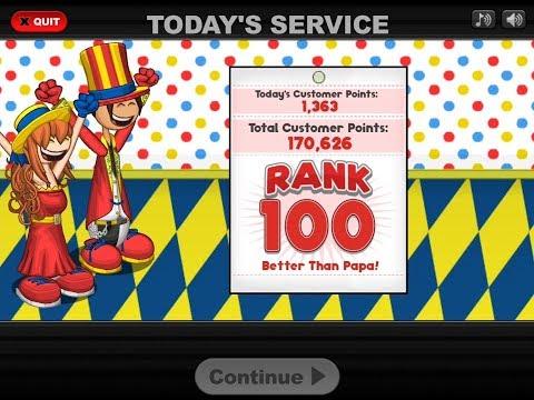 Papa's Scooperia HD - Reaching Rank 100!