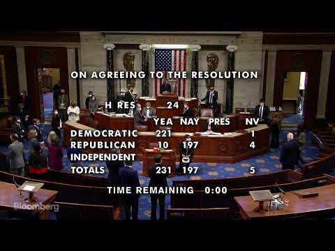 WATCH: U.S. House of Representatives Votes on Impeachment of Donald Trump
