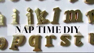 Nap Time Diy | Gold Fridge Magnets