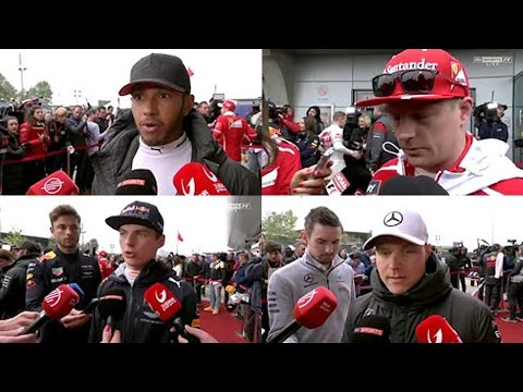 ALL Drivers post-race interview Bahrain GP F1 2017