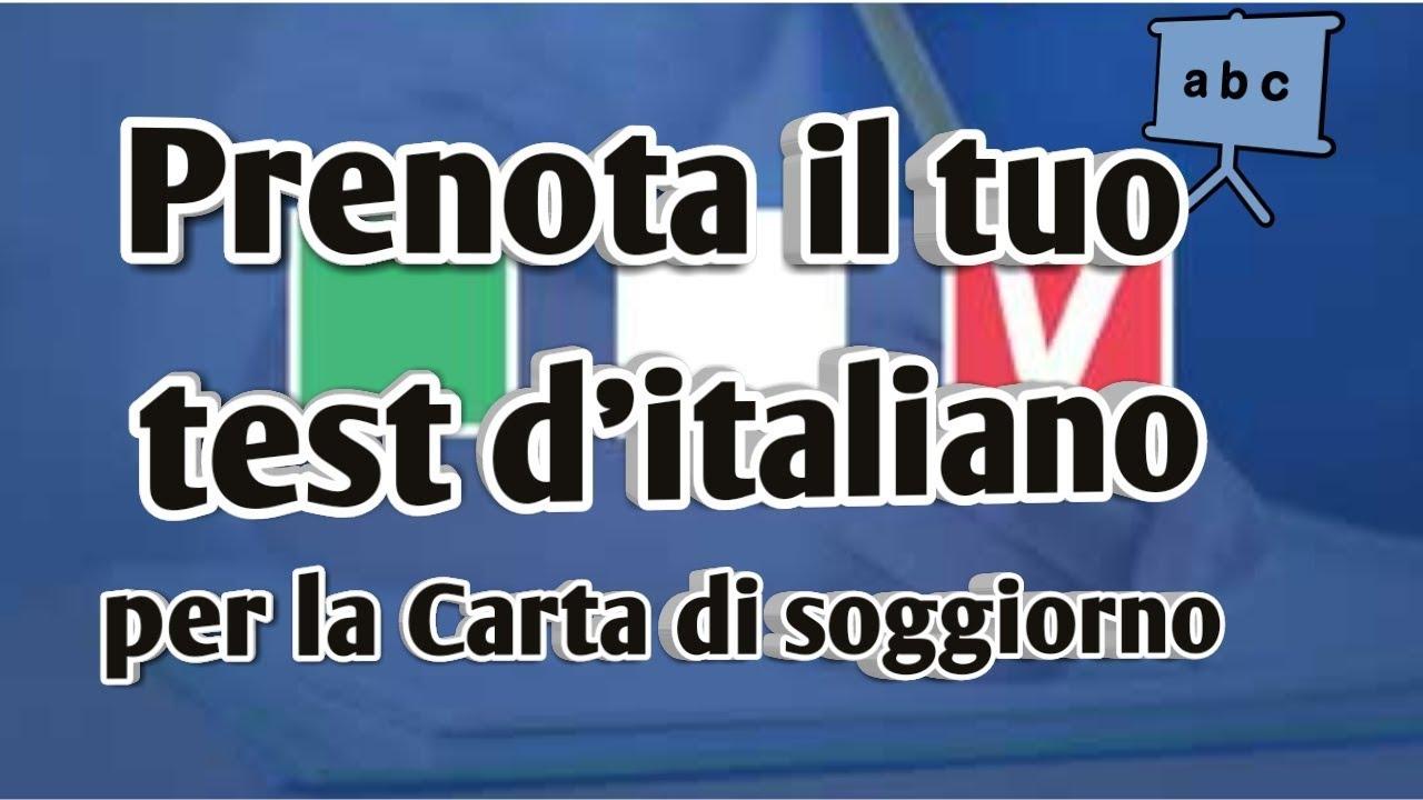 Come prenotare il test d\'italiano per la carta di soggiorno