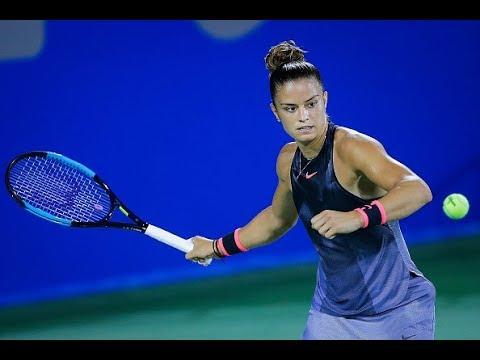 2017 Wuhan Second Round | Maria Sakkari vs. Caroline Wozniacki | WTA Highlights