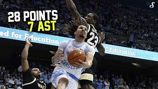 Cole Anthony Full Highlights 3.3.2020 Wake Forest vs UNC - 28 Pts, 7 Ast