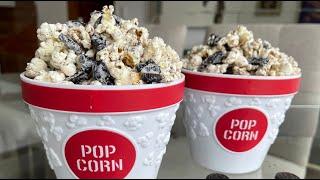 Popcorn con galletas oreo