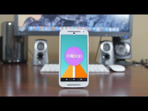 Android 5.0 Lollipop on Moto G (2014)