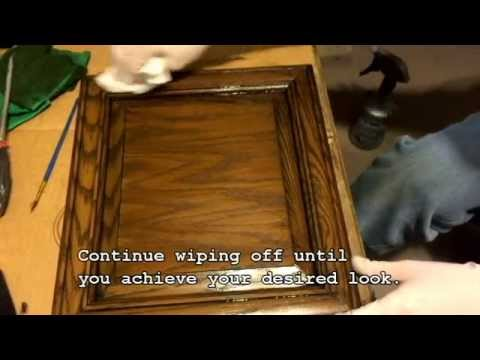 Diy How To Ly Glaze A Cabinet Door