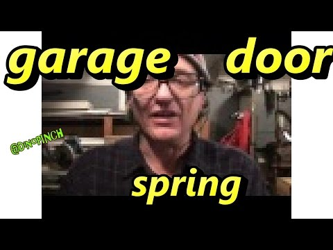 Replace Broken Spring or Cable Overhead Garage Door